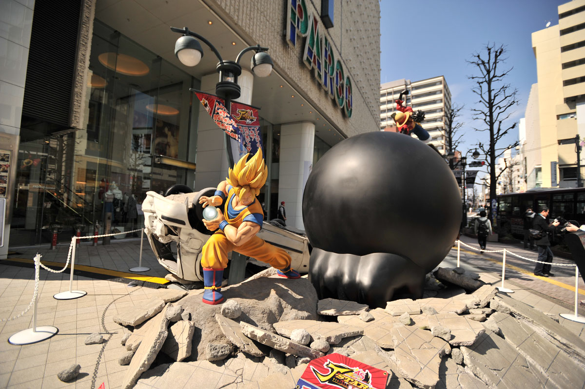Parco bataille Gokû et Luffy