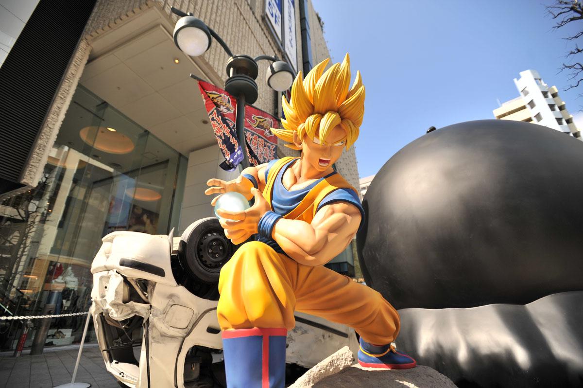 Parco bataille Gokû et Luffy 4