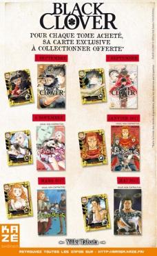 Black Clover les cartes de Kazé Manga