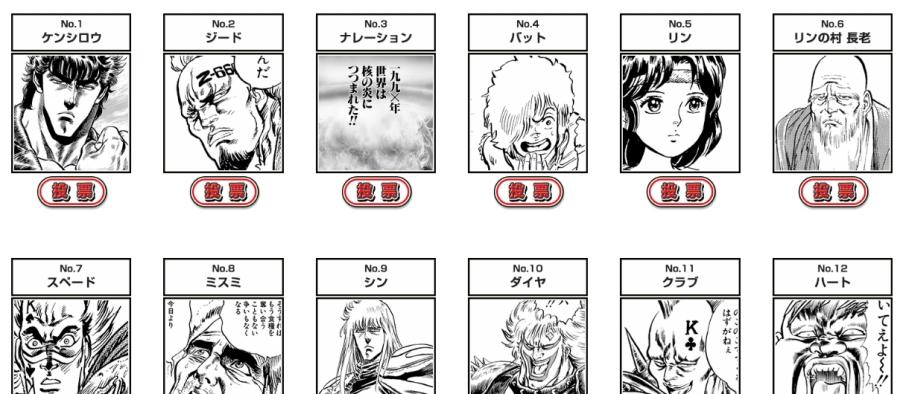 Hokuto no Ken, les 35 ans ! 174 personnages à départager !