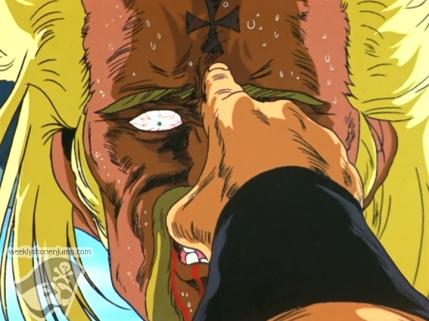 Kenshiro utilise sa technique la plus connue !