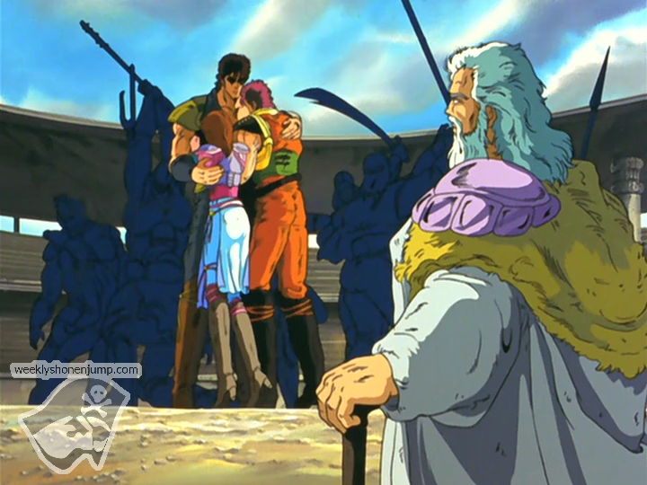 Kenshiro, Batt et Lynn : tendre retrouvaille !