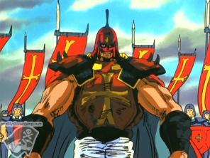 Le général la lumière rouge et l'armée bloque Kenshiro