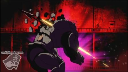 Kazuki grâce à son nucloton pourfends l'homoncule !
